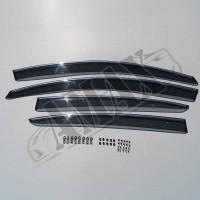 Дефлекторы окон с хромовым кантом (ветровики) для Volkswagen Passat B6