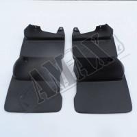 Брызговики (комплект из 4 штук) для внедорожника Toyota Land Cruiser Prado 90 - черные