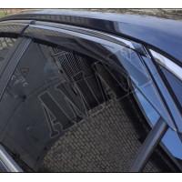 Дефлекторы дверей, ветровики (с хром-молдингом), Тойота Камри_Toyota Camry 55 (2014-2017)