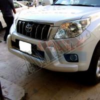 Накладка на передний бампер (губа), Тойота Ленд Крузер Прадо_Toyota Land Cruiser Prado 150 (2009-2013)
