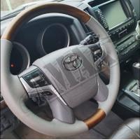 Руль кожа-дерево (стиль 15+) Тойота Ленд Крузер_Toyota Lend Cruiser 200 (2008-2017)