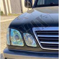 Передние фары зеленые (линза) в Original Style-Лексус ЛХ_Lexus LX-470 (1998-2007)