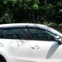 Дефлекторы дверные -  ветровики - с хромированной полосой - молдингом на Mazda CX-5