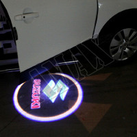 Логотип-подсветка в карту дверей
