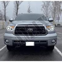 Передние фары (головная оптика) черные Тойота Тундра_Toyota Tundra (2007-2014)