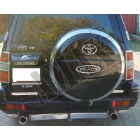 Чехол запаски (пластик) под оригинал, Тойота Ленд Крузер Прадо_Toyota Land Cruiser Prado 90 (1996-2002)