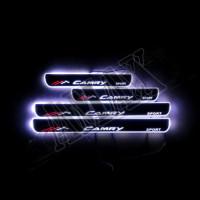 Накладки на пороги с подсветкой (оргстекло) Тойота Камри_Toyota Camry