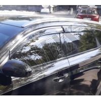 Дефлекторы дверей - ветровики - с хромовым кантом для Hyundai Tucson (2015 +)