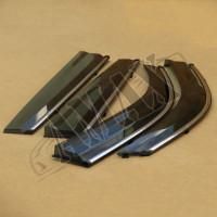 Дефлекторы дверей (ветровики) темно-серые с хромовым кантом для Toyota Highlander от 2014 +