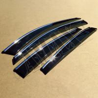 Дефлекторы окон (ветровики) с хром молдингом на Toyota Rav-4 от 2013 +