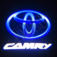 Логотип подсветка в карту дверей штатная Тойота Камри_Toyota Camry