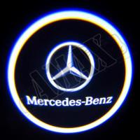 Логотип подсветка в карту дверей (штатная), Мерседес Бенц_Mercedes Benz W221 (2007-2012)