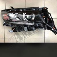 Передние светодиодные фары (черные) Тойота Прадо_Toyota Prado 150 (2018-2021)