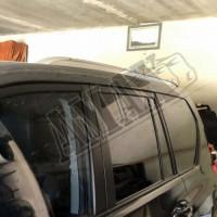 Рейлинги на крышу внедорожника Lexus style (серебристые) Тойота Ленд Крузер Прадо_ Toyota Land Cruiser Prado 150 (2009-2021)