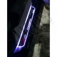 Задние фонари светодиодные, Тойота Камри_ Toyota Camry 55 USA (2015-2017)