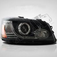Передние линзовые фары (стиль Range Rover) с дневными ходовыми огнями Тойота Хайлендер_Toyota Highlander (2007-2013)