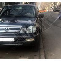 Передние линзовые фары-хромовые с указателями поворотов Лексус ЛХ_Lexus LX470 (1998-2007)