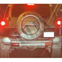 Чехол запасного колеса для внедорожника, цвет-серебро (под камеру) Тойота Фджи Крузер_ Toyota FJ Cruiser (2004-2015)