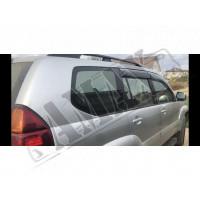 Дефлекторы дверей (ветровики) с хром молдингом, Тойота Ленд Крузер Прадо_Toyota Land Cruiser Prado 120 (2003-2008)